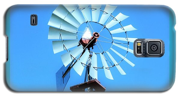 Galaxy S5 Case featuring the photograph Windmill - Bright Sunny Day by Ray Shrewsberry