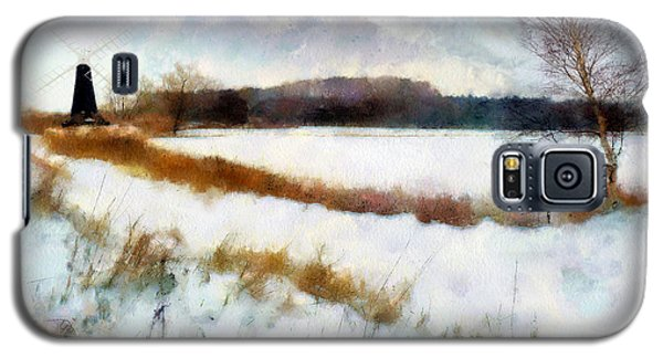 Windmill In The Snow Galaxy S5 Case