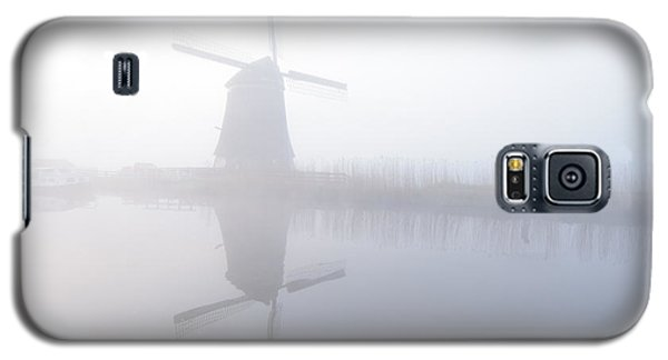 Galaxy S5 Case featuring the photograph Windmill Reflection by Phyllis Peterson