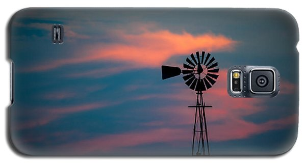 Windmill Sunset Galaxy S5 Case