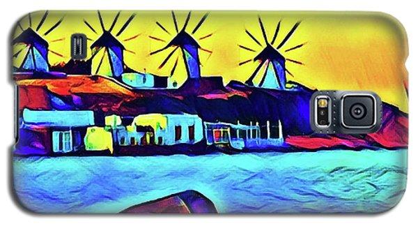 Windmills At Mykonos Galaxy S5 Case