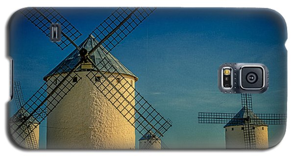 Galaxy S5 Case featuring the photograph Windmills Under Blue Sky by Heiko Koehrer-Wagner