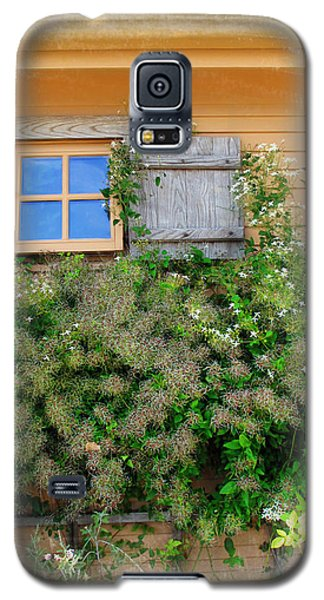 Galaxy S5 Case featuring the photograph Window Floral In Plymouth by Joan  Minchak