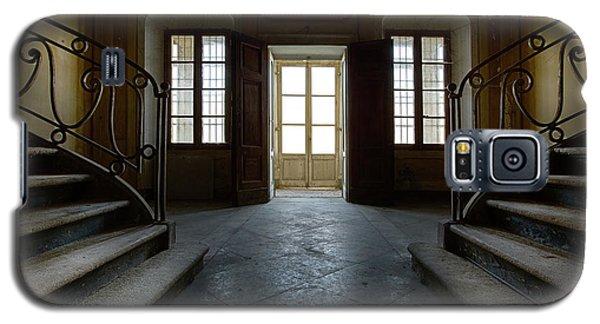 Galaxy S5 Case featuring the photograph Window Light On Dark Stairs by Dirk Ercken