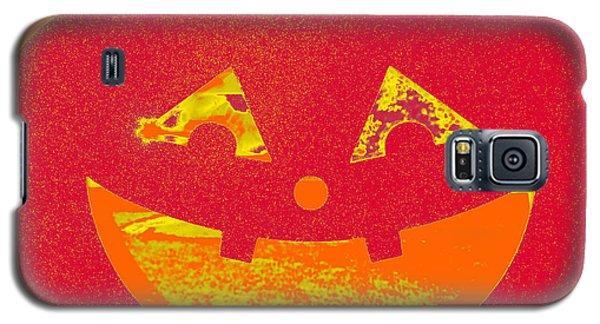 Window Pumpkin #4 Galaxy S5 Case