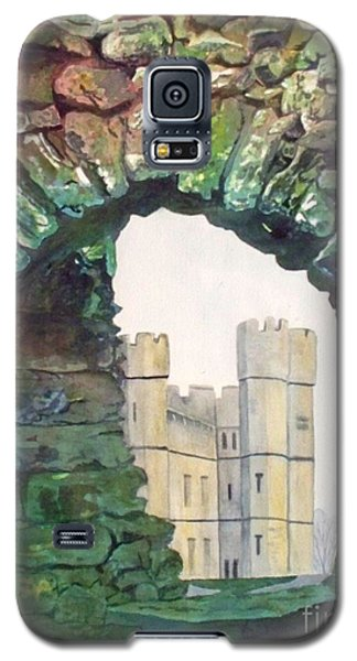 Galaxy S5 Case featuring the painting Window To The Past by LeAnne Sowa