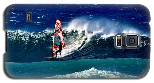 Galaxy S5 Case featuring the photograph Windsurfer by Penni D'Aulerio