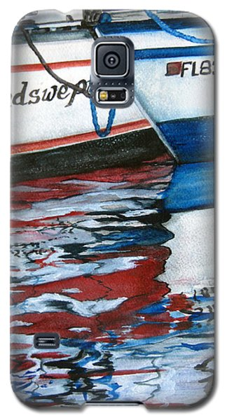 Galaxy S5 Case featuring the painting Windswept Reflections Sold by Lil Taylor