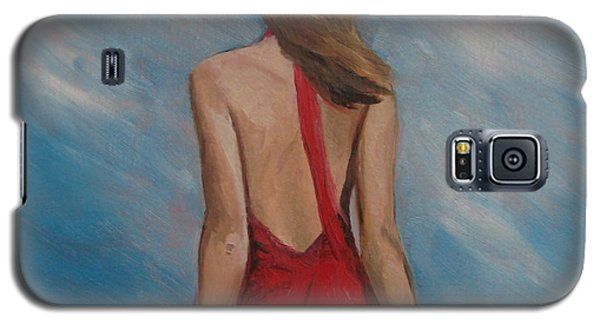 Galaxy S5 Case featuring the painting Windy Day by Jindra Noewi