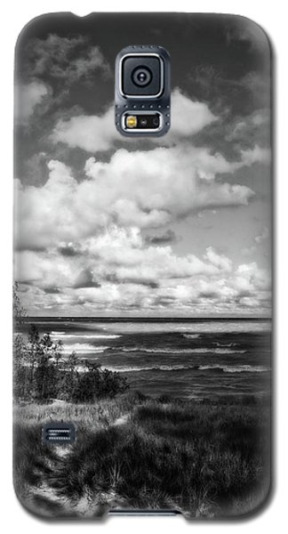 Galaxy S5 Case featuring the photograph Windy Morning On Lake Michigan by Michelle Calkins