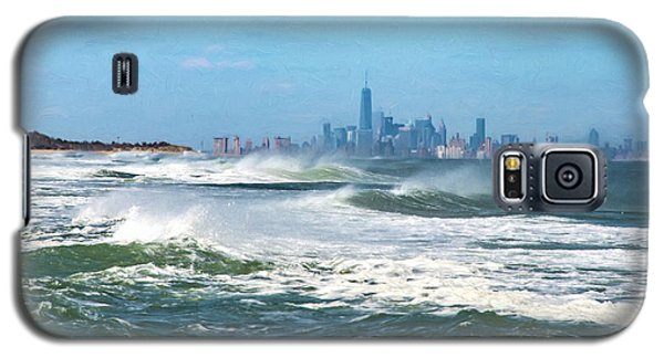 Windy View Of Nyc From Sandy Hook Nj Galaxy S5 Case by Gary Slawsky