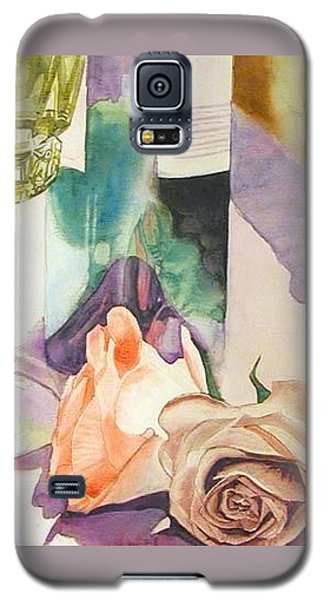 Galaxy S5 Case featuring the painting Wine And Roses by Martha Ayotte