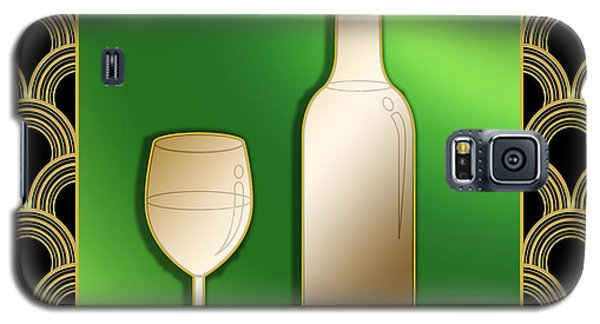 Galaxy S5 Case featuring the digital art Wine Bottle And Glass - Chuck Staley by Chuck Staley