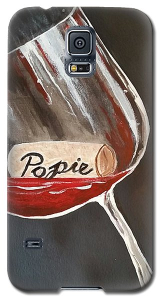 Galaxy S5 Case featuring the painting Wine Glass by Carol Duarte