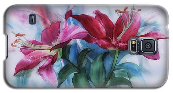 Wine Lillies In Pastel Watercolour Galaxy S5 Case