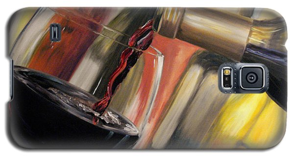 Galaxy S5 Case featuring the painting Wine Pour II by Donna Tuten