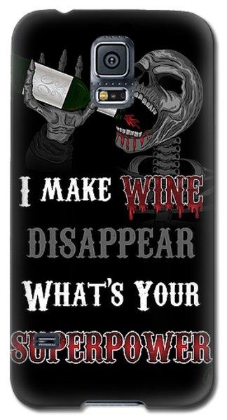 Wine Superpower Skeleton Fantasy Art Galaxy S5 Case