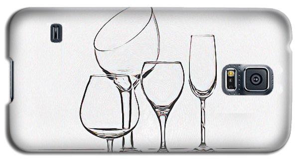 Wineglass Graphic Galaxy S5 Case by Tom Mc Nemar