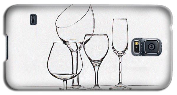 Wineglass Graphic Galaxy S5 Case