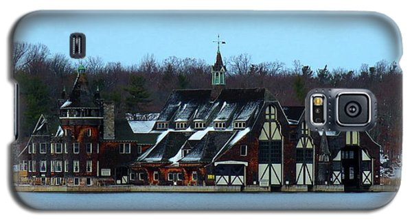 Snow On Boldt Castle Yacht House Galaxy S5 Case