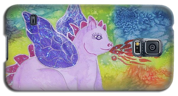 Galaxy S5 Case featuring the painting Winged Dragon by Ellen Levinson