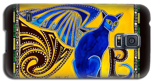 Winged Feline - Cat Art With Letter P By Dora Hathazi Mendes Galaxy S5 Case