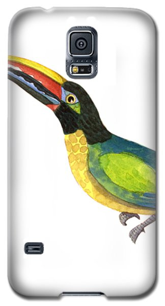 Toucan Galaxy S5 Case - Winged Jewels 2, Watercolor Toucan Rainforest Birds by Audrey Jeanne Roberts