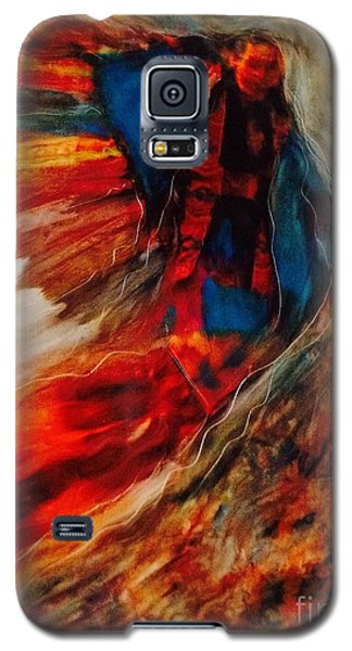Galaxy S5 Case featuring the painting Winged Ones by FeatherStone Studio Julie A Miller