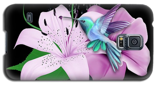 Galaxy S5 Case featuring the mixed media Winging It Hummingbird by Marvin Blaine