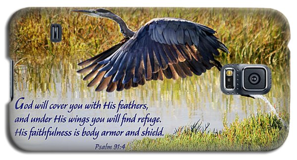 Wings Of Refuge With Scripture Galaxy S5 Case