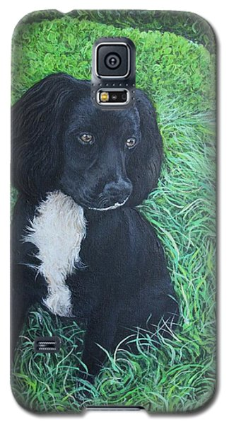 Galaxy S5 Case featuring the painting Winnie by Tom Roderick