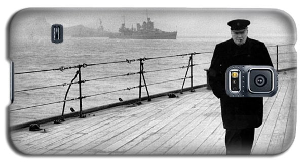 Politicians Galaxy S5 Case - Winston Churchill At Sea by War Is Hell Store