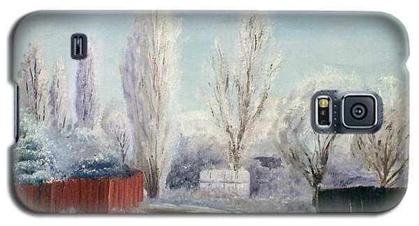 Galaxy S5 Case featuring the painting Winter At Bonanza by Sherril Porter