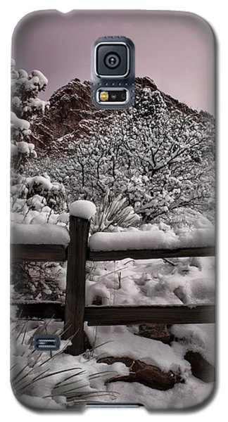 Galaxy S5 Case featuring the photograph Winter At Garden Of The Gods by Ellen Heaverlo