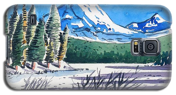 Galaxy S5 Case featuring the painting Winter At Mt. Lassen by Terry Banderas