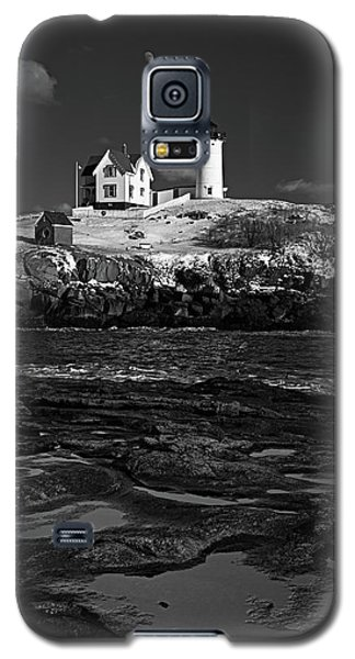 Winter At Nubble Lighthouse Bw Galaxy S5 Case