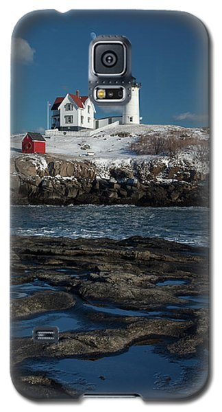 Winter At Nubble Lighthouse Galaxy S5 Case