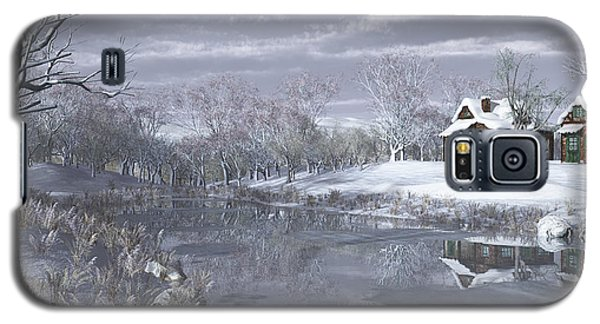 Winter At The Lake Galaxy S5 Case
