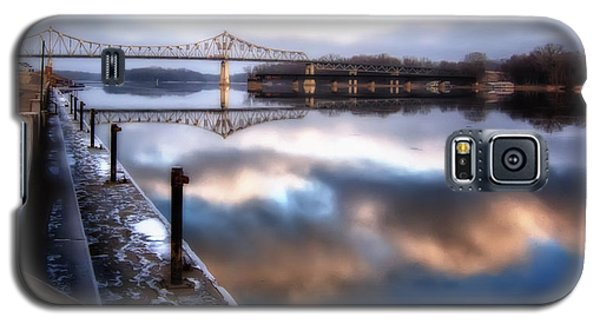 Winter At The Levee Galaxy S5 Case