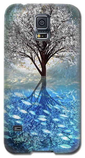 Galaxy S5 Case featuring the digital art Winter At The Reef by Debra and Dave Vanderlaan