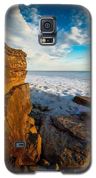 Winter Beach Sunset Galaxy S5 Case