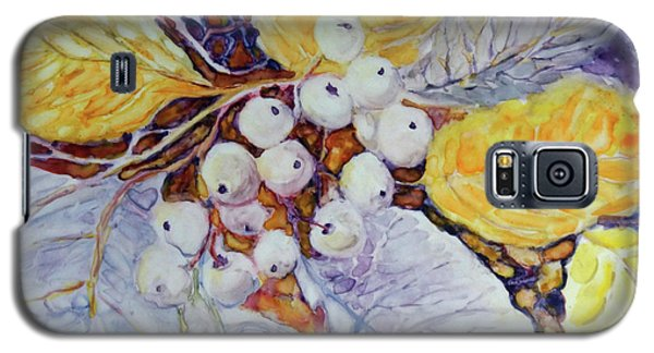Galaxy S5 Case featuring the painting Winter Berries by Joanne Smoley