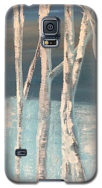 Winter Birches Galaxy S5 Case by Paula Brown