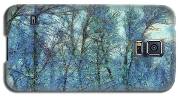 Winter Blue Forest Galaxy S5 Case