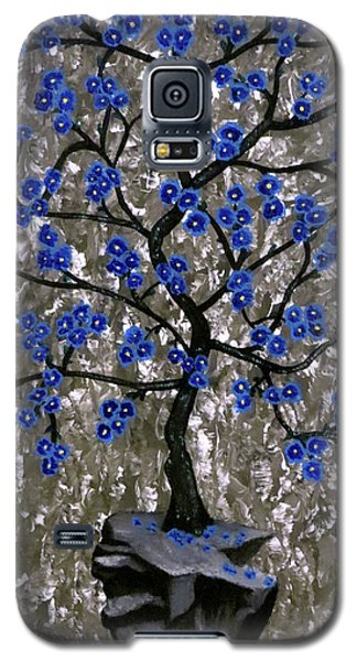 Galaxy S5 Case featuring the painting Winter Blues by Teresa Wing