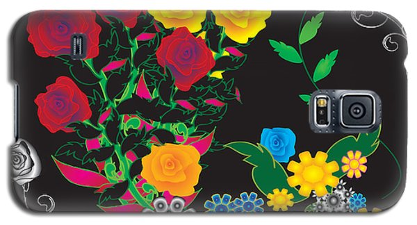 Galaxy S5 Case featuring the digital art Winter Bouquet by Kim Prowse