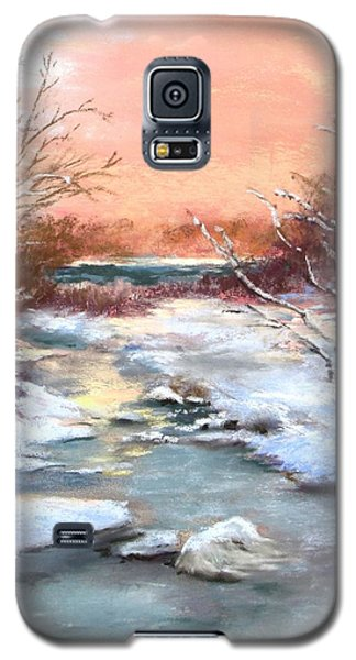 Galaxy S5 Case featuring the painting Winter Brook by Jack Skinner
