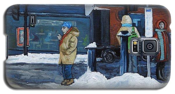 Winter Bus Stop Galaxy S5 Case