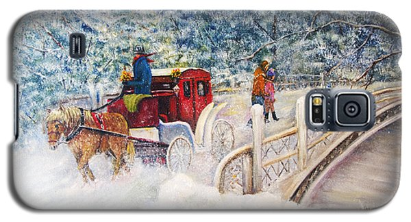 Winter Carriage In Central Park Galaxy S5 Case