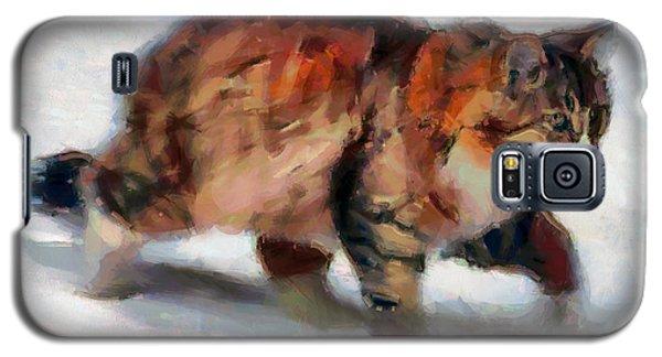 Winter Cat Galaxy S5 Case